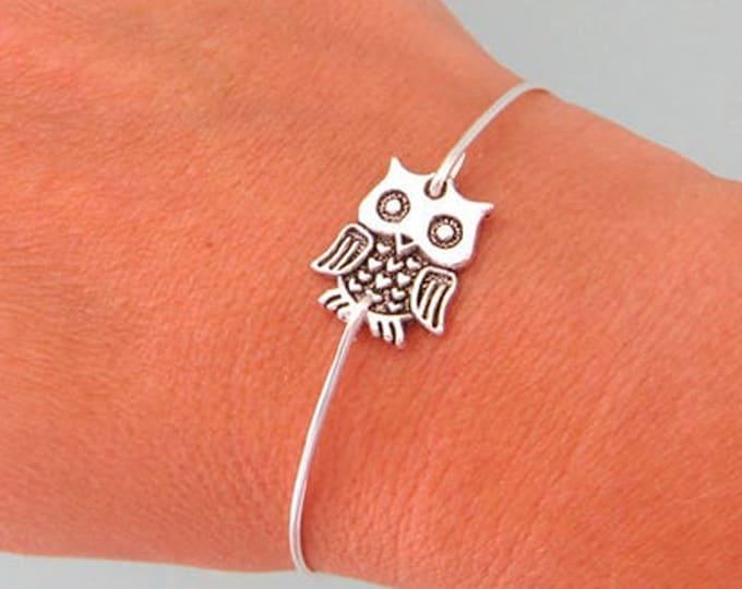 Mini Psychedelic Owl Bracelet Women Bird Bracelet Owl Lover Jewelry Owl Jewelry Gift Bird Watcher Gift Ornithology Gift Psychedelic Jewelry