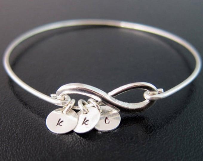 Set of 3 Mini Infinity Personalized 3 Best Friend Bracelets Three 3 Best Friends Gift Idea Women Valentines Day Gifts Friend Jewelry Female