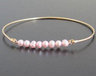 Pink Pearl Bracelet, Pink Pearl Jewelry, Pink Wedding Jewelry, Pink Bridal Jewelry, Blush Pink Bracelet, Blush Pink Bridesmaid Jewelry