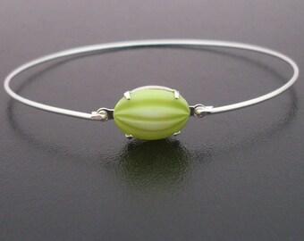 Lime Green Bangle Bracelet, Lime Green Bracelet, Green Lime Slice, Silver, Lime Green Jewelry, Fruit Jewelry, Fruit Bracelet, Fruit Bangle