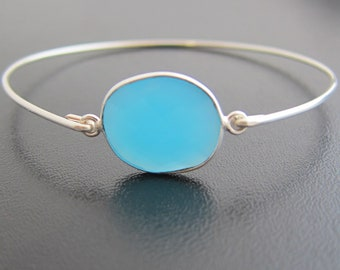 Blue Chalcedony Bracelet, Blue Stone Bracelet, Chalcedony Jewelry, Blue Gemstone Jewelry for Women Blue Gemstone Bracelet Blue Stone Jewelry