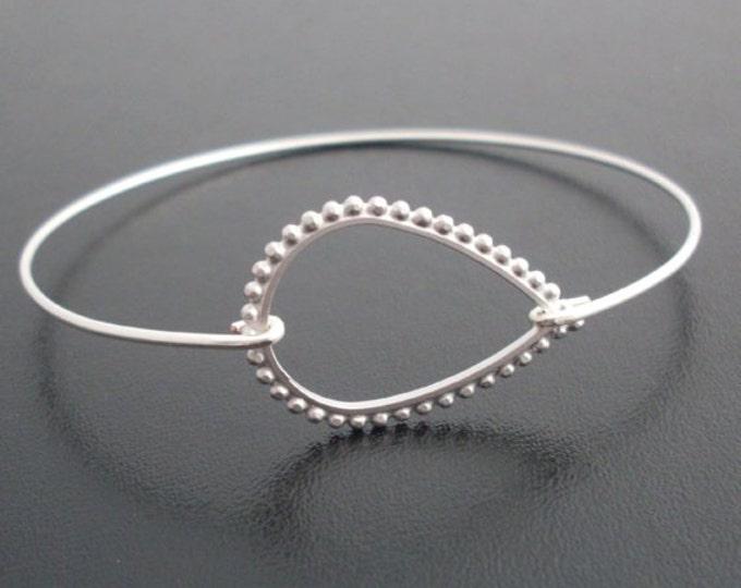 Silver Teardrop Bracelet, Angelina, Teardrop Bangle, Teardrop Jewelry, Raindrop, Teardrop Bridal Bracelet, Bridesmaid Silver Bracelet