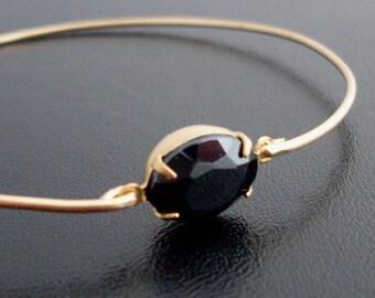 Black Bangle Bracelet for Women Black Simulated Stone Bracelet Simulated Stone Bangle Simulated Stone Jewelry Black Bracelet Black Jewelry