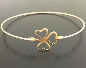 Lucky Shamrock Bracelet 3 Leaf Clover Bracelet St. Patrick's Day Bracelet St. Patrick's Day Jewelry Gift for Mom Teacher Friend Work Client