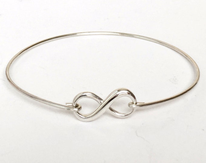 Dainty Sterling Silver Infinity Bracelet for Teen Girl Gift Idea Birthday Gift for Teen Girl Jewelry Teen Bracelet Trend Teen Jewelry Trend