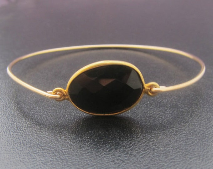 Black Onyx Bracelet, Black Onyx Bangle, Black Onyx Jewelry, Black Onyx Gemstone, Black Gemstone, Black Stone Bracelet, Black Stone Jewelry