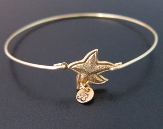 Starfish Personalized Bridesmaid Bracelet Personalized Bridesmaid Jewelry Beach Bridesmaid Gift Beach Wedding Bracelet Beach Wedding Jewelry