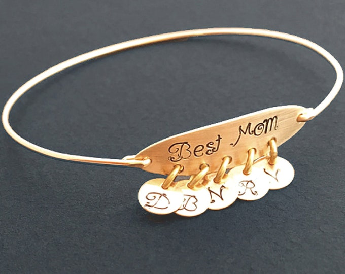 Birthday Gift for Mom from Daughter or from Son Best Mom Bracelet, Gift for Mom from Children Daughter in Law Mom Nana Grandma CHOOSE SAYING