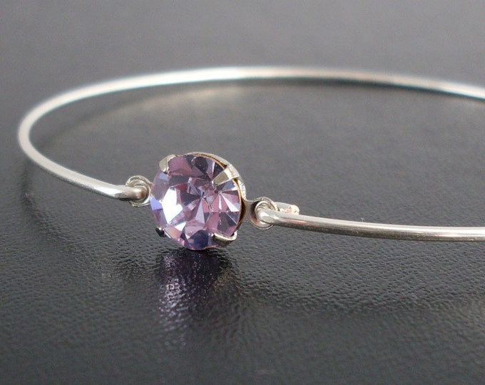 Purple Rhinestone Bracelet Lilac Bracelet Lilac Jewelry Purple Bangle Purple Bridesmaid Jewelry Purple Bridesmaid Gift Purple Bracelet Women