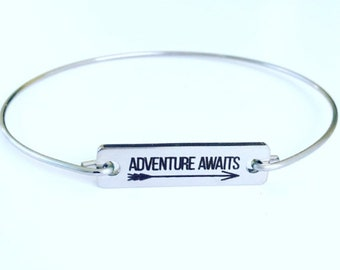 Adventure Awaits Bracelet Travel Gift Idea for Women for Her Adventure Bracelet Adventure Jewelry Travel Jewelry Wedding Gift Bridal Shower