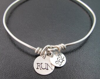 Marathon Bracelet, Marathon Bangle, Marathon Jewelry, 26.2 Bracelet, 26.2 Jewelry, Runner Bracelet, Runner Jewelry, Run Bracelet Run Jewelry