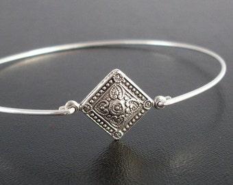 Silver Tone Bracelet Bangle Thin Bangle Bracelet Bohemian Jewelry for Women Bohemian Bracelet Boho Jewelry Boho Bangle Bohemian Bangle