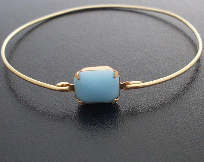 Blue Bangle Bracelet Blue Glass Bracelet Blue Bride Bangle Blue Bridal Bangle Bracelet Blue Bridesmaid Bangle Blue Wedding Bangle Bracelet