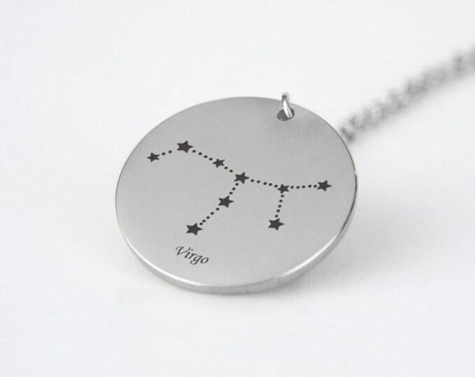 Virgo Constellation Necklace Silver Tone Virgo Pendant Necklace Virgo Gift Virgo Astrology Necklace Celestial Necklace Star Sign Necklace
