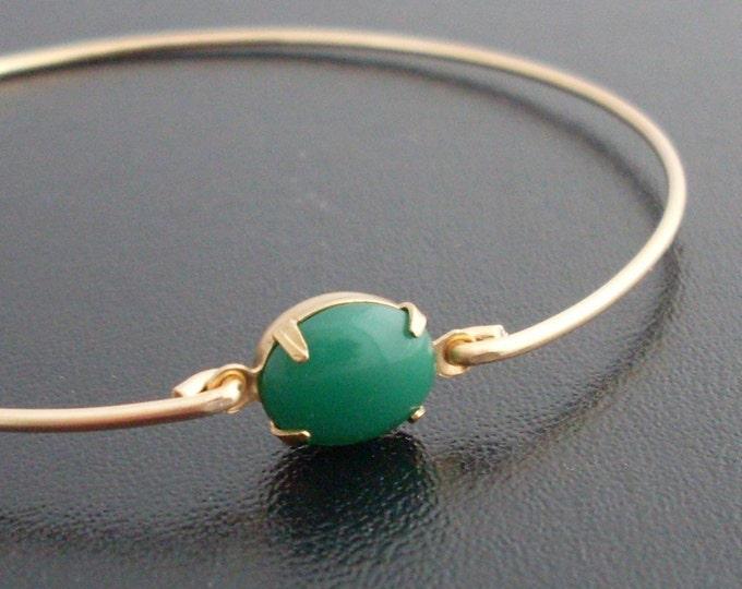 Green Bangle Bracelet, Green Cabochon Bracelet, Green Bracelet Bangle, Green Jewelry, Green Stacking Bangle, Green Stacking Bracelet