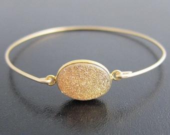 Gold Druzy Bracelet, Druzy Jewelry, Drusy Bracelet, Drusy Jewelry, Druzy Quartz Bracelet, Drusy Quartz Jewelry, Druzy Bangle Bracelet