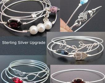 Sterling Silver Bangle Band Upgrade... Upgrade Your Bangle Band From Silver Filled to Sterling Silver. 10 Dollars per Bangle Band Upgraded