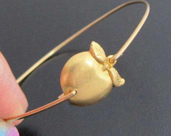 Golden Apple Bracelet Teacher Gift Christmas Teacher Christmas Gift from Kindergarten Class First Grade Teacher Gift Teacher Jewelry Gift