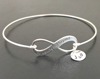 To Infinity and Beyond Bracelet Sterling Silver Infinity Bracelet Wedding Bracelet for Bride from Groom 25th Anniversary Gift for Wife