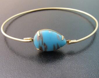 Blue Glass Bangle Bracelet with Golden Veining Blue Glass Bracelet Blue Glass Jewelry Modern Bracelet Modern Bangle Bracelet Frosted Willow
