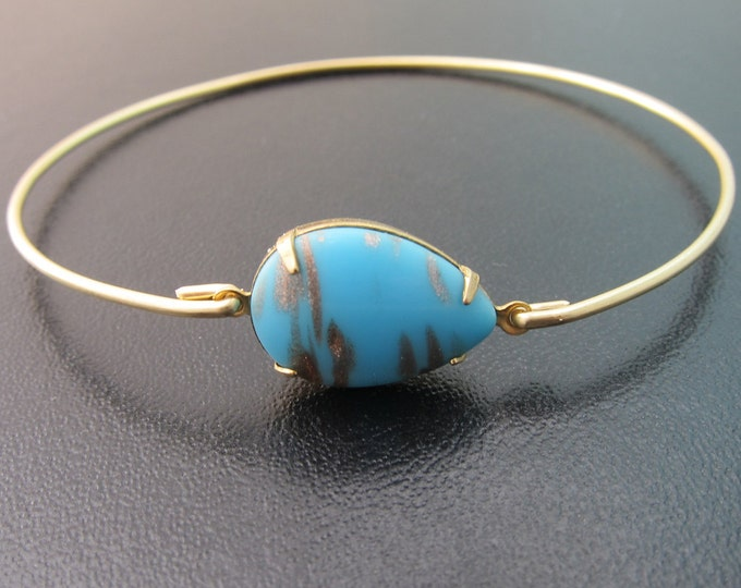 Blue Glass Bangle Bracelet with Golden Veining Blue Glass Bracelet Blue Glass Jewelry Modern Bracelet Modern Bangle Bracelet Frosted Willow