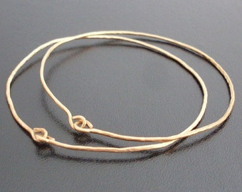 Brass Bangle Bracelet Set Hammered Jewelry Brass Bangle Set 2 Wire Bangle Bracelets Wire Jewelry Handcrafted Jewelry Theme: Ancient Jewelry