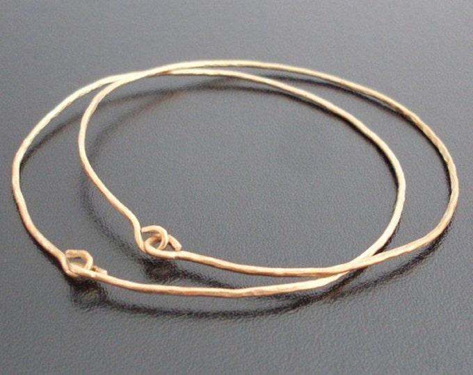 Brass Bangle Bracelet Set Hammered Jewelry Brass Bangle Set 2 Wire Bangle Bracelets Wire Jewelry Handcrafted Jewelry Theme: Ancient Jewelry