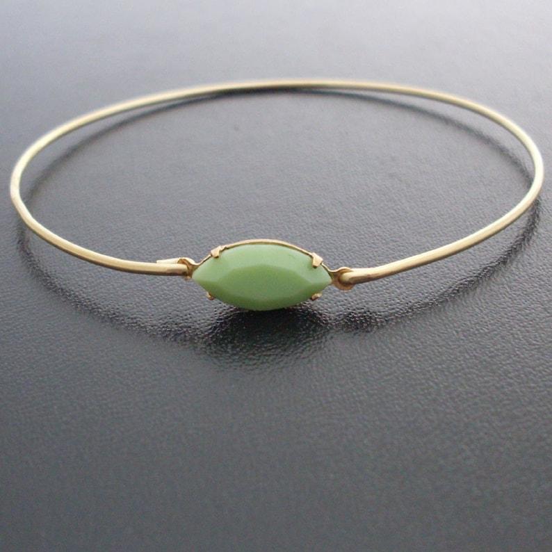 284b3022a2f Bracelet Bangle Lucia Apple Green Jewelry Green Bridal   Etsy