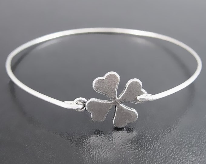 4 Leaf Clover Bracelet Good Luck Bracelet Irish Bracelet for Women St Patrick's Day Gift Friend Coworker Teacher Four Leaf Clover Bracelet