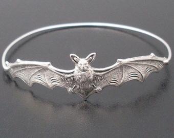 Bat Bangle Bracelet Halloween Bracelet Bat Jewelry Bat Bracelet 2021 Halloween Jewelry Women Halloween Gift Bat Gift Gothic Halloween Bangle