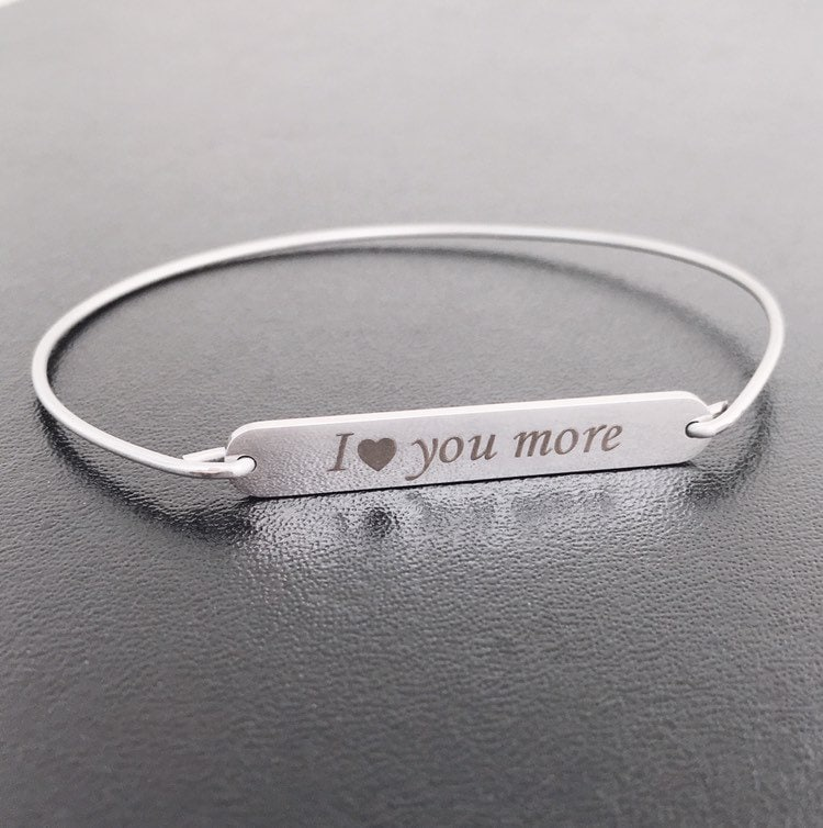 11 Year Anniversary Gift for Wife I Love You More Bracelet ...