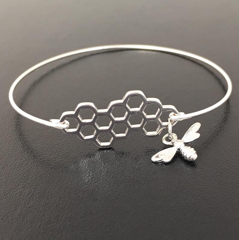 Spring Fashion Bumblebee Jewlery Bee Honeycomb Jewelry Bee Bangle Bracelet Honeycomb Bee Bracelet Honeycomb Bracelet Bangle