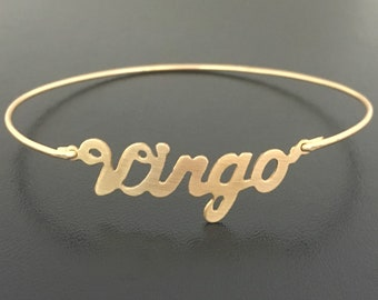 Virgo Bracelet for Women Virgo Gift Idea Her Zodiac Gift Virgo Zodiac Bracelet Gift Wife Virgo Jewelry Virgo Birthday Gift August September