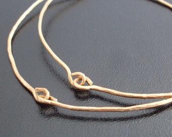 14k Gold Filled Hammered Bracelets Set of 2 Handcrafted Bracelets Festival Jewelry Hammered Bangle Bracelets Handcrafted Bangles Gold Filled