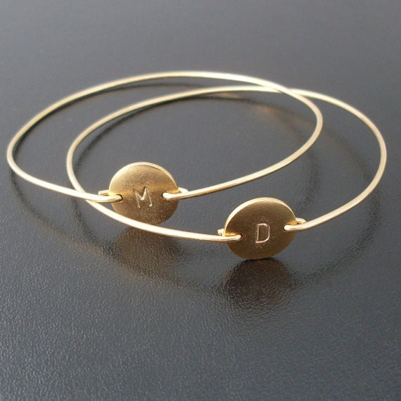 Gold Friendship Bracelet Set 2 Best Friend Bracelets Best Etsy