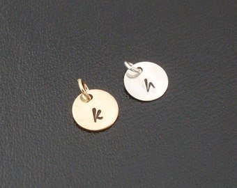 Add an Initial Charm to Any Bangle You Order from my Shop  - Sterling Silver or 14k Gold Filled or 14k Rose Gold Filled