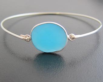 Blue Chalcedony Bracelet, Blue Stone Bracelet, Chalcedony Jewelry, Blue Gemstone Jewelry for Women Blue Gemstone Bracelet Blue Stone Jewelry