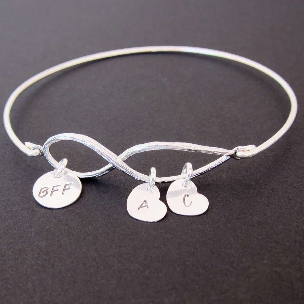BFF Gift Bracelet Jewelry Best Friend Birthday Long Distance Friendship Bangle