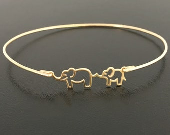 Mother Elephant Bracelet Mother Gift Idea from Daughter Son Expectant Mother Gift Expectant Mother Jewelry Baby Shower Mother Birthday Gift