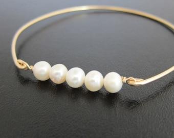 Cultured Freshwater Pearl Bracelet Wedding Bridesmaid Cultured Pearl Jewelry Cultured Pearl Bangle Bracelet for Women Cultured Pearl Braclet