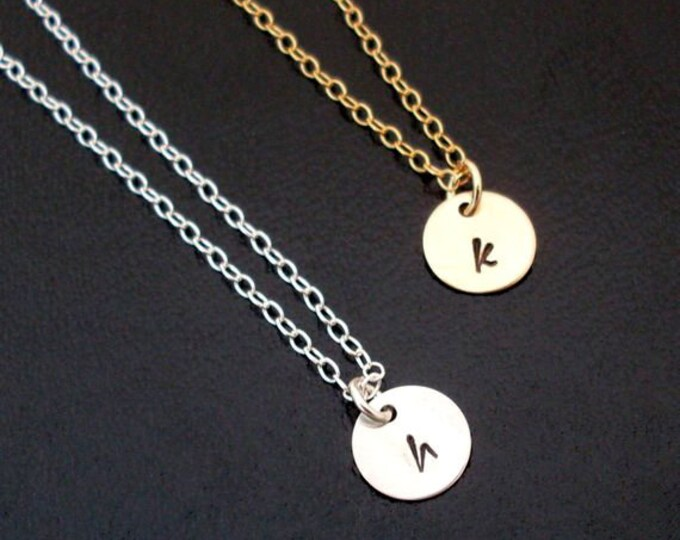 Set of 6 Bridesmaid Necklaces Set of 6 Bridesmaid Gift Set of 6 Necklaces Personalized Initial Charm 14k Gold Filled or Sterling Silver