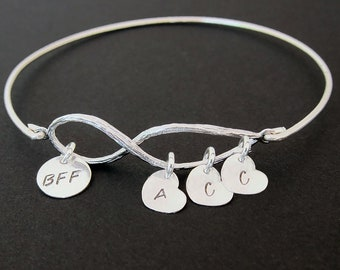 Charm Bracelet for BFF Jewelry for BFF Gift Bestie Valentines Day Gift BFF Best Friend Gift Birthday Present Best Friend Bracelet Customized