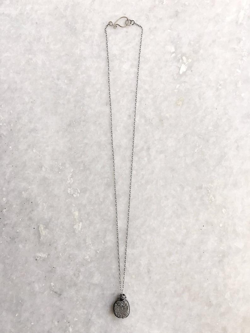 Tensel necklace \u2013 Titanium druzy sterling silver