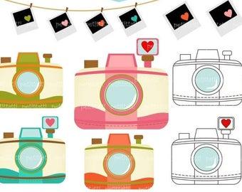ON SALE vintage camera clip art > photo clip art, retro camera clip art, clipart instant download