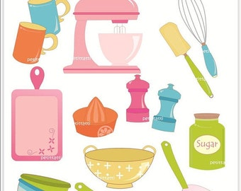 kitchen clipart etsy rh etsy com cooking utensils clip art images free cooking utensils clipart free