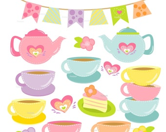 cup cake clip art etsy rh etsy com tea party clipart images tea party clipart black and white