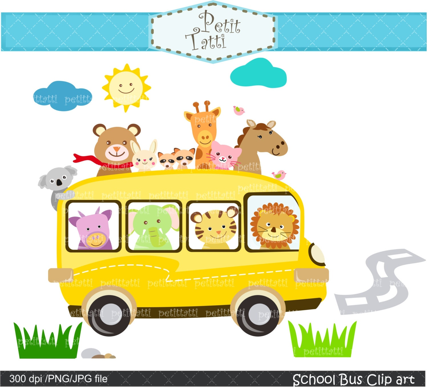 on sale school bus clipart back to school clipartinstant | etsy