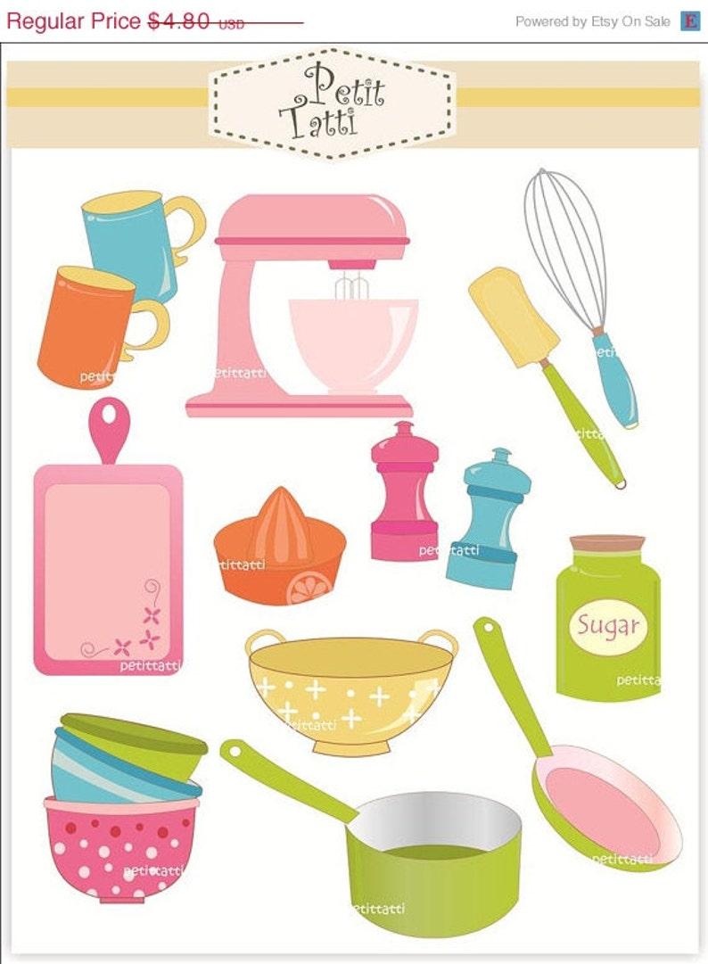 ON SALE baking clip art Digital clip art cooking utensil ...