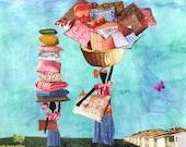 Comfort Bringers. Haiti. Print Collage. African American. 7 x 5. Print.
