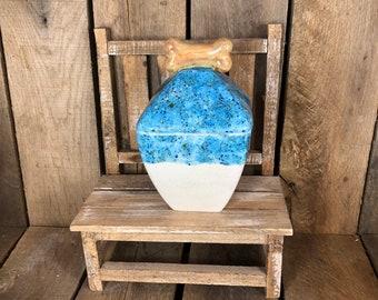 Dog Treat Jar / Ceramic Dog Treat Jar
